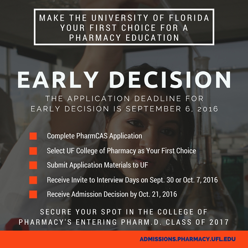 Early Decision Deadline 2016